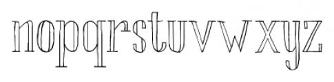 Chameleon Sketch Outline Font LOWERCASE