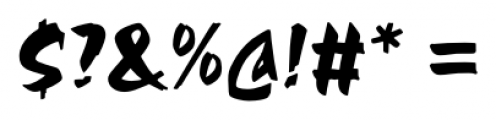 Chandler Regular Font OTHER CHARS