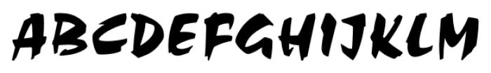 Chandler Regular Font UPPERCASE