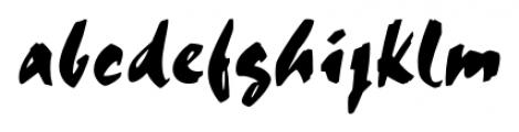 Chandler Regular Font LOWERCASE