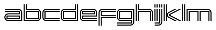 Changeling Neo Inline Font LOWERCASE