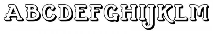 Cherritt Small Caps  Openface Font UPPERCASE