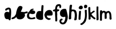 Chinchilla Black Font LOWERCASE