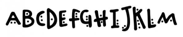 Chinchilla Dots Font UPPERCASE