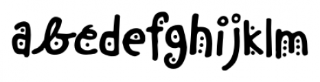 Chinchilla Dots Font LOWERCASE
