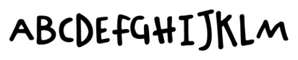 Chinchilla Regular Font UPPERCASE