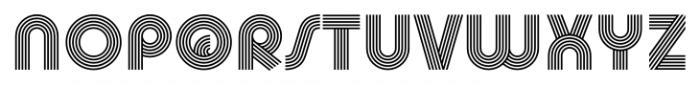 Churchward Design Lines Font UPPERCASE