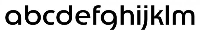 Churchward Lorina Regular Font LOWERCASE