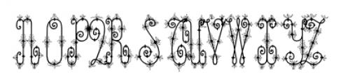 ChyrlleneOrnamental Regular Font UPPERCASE