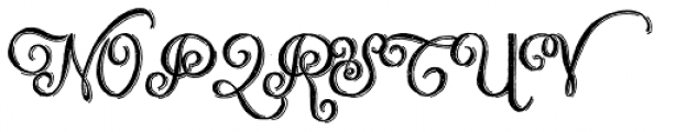 Chalk Hand Lettering Shaded Font UPPERCASE