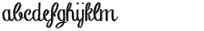 Chalk Hand Lettering Shaded Font LOWERCASE