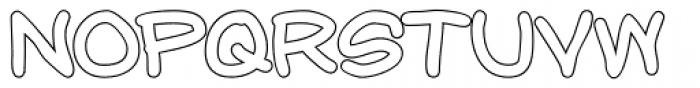 Chalk Outlines Font UPPERCASE
