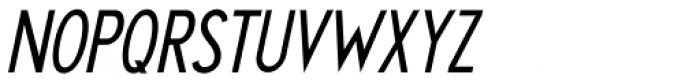 Chamber Of Commerce Oblique JNL Font UPPERCASE