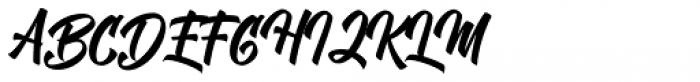 Chamberton Script Font UPPERCASE
