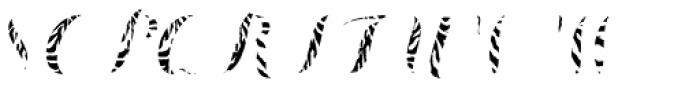 Chameleon Fill Skin 1 Font UPPERCASE