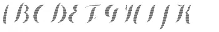 Chameleon Fill Stripe 1 Font UPPERCASE