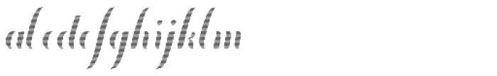 Chameleon Fill Stripe 1 Font LOWERCASE