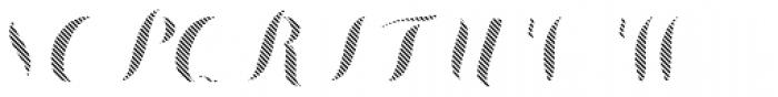 Chameleon Fill Stripe 3 Font UPPERCASE