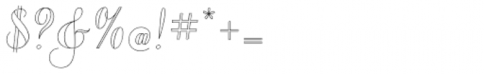 Chameleon Outline 1 Font OTHER CHARS