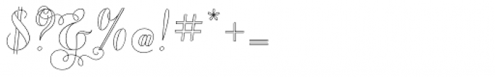 Chameleon Outline 2 Font OTHER CHARS