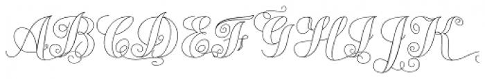Chameleon Outline 2 Font UPPERCASE