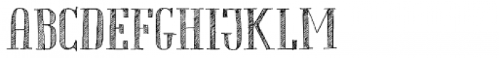 Chameleon Sketch Hatch Font UPPERCASE