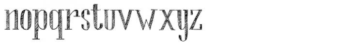 Chameleon Sketch Hatch Font LOWERCASE