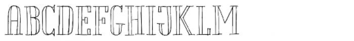 Chameleon Sketch Outline Font UPPERCASE