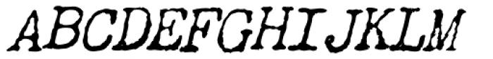 Chandler 42 Italic Font UPPERCASE