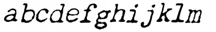Chandler 42 Italic Font LOWERCASE