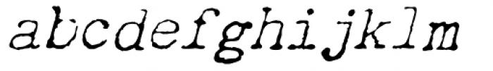 Chandler 42 Lite Italic Font LOWERCASE
