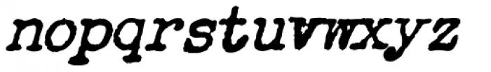 Chandler 42 Medium Oblique Font LOWERCASE
