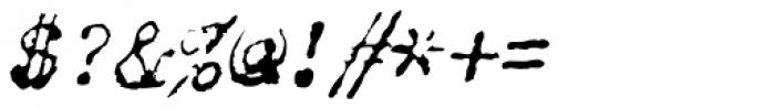 Chandler 42 Oblique Font OTHER CHARS