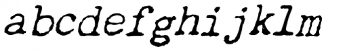 Chandler 42 Oblique Font LOWERCASE