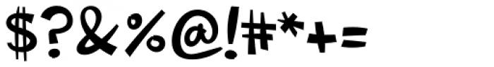 Changua Black Font OTHER CHARS