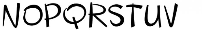 Changua Font UPPERCASE