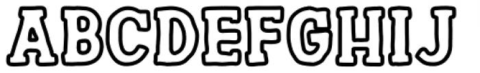 Channels outline Font UPPERCASE