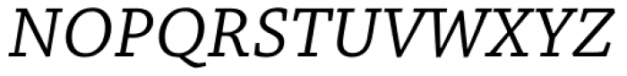 Chaparral Pro Caption Italic Font UPPERCASE