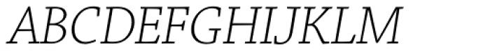 Chaparral Pro SubHead Light Italic Font UPPERCASE