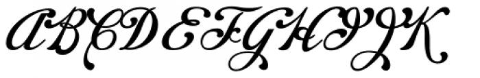 Chapel Script Font UPPERCASE
