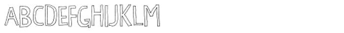 Chaplet Outline Font UPPERCASE