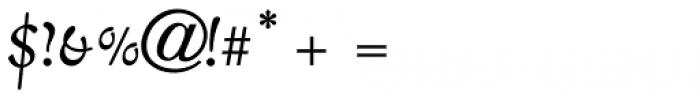Chaplin Regular Font OTHER CHARS