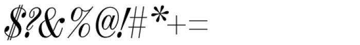 Chapman Regular Condensed Italic Font OTHER CHARS