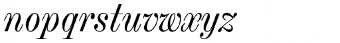 Chapman Regular Condensed Italic Font LOWERCASE