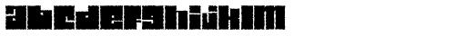 Characteristic Font LOWERCASE