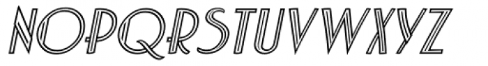 Charbonne Inline Oblique Font UPPERCASE