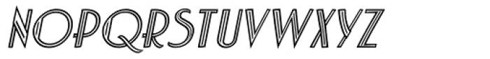 Charbonne Inline Oblique Font LOWERCASE
