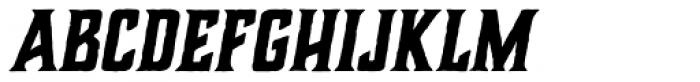 Charcuterie Block Bold Italic Font UPPERCASE