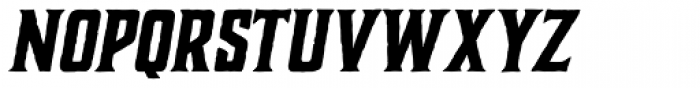 Charcuterie Block Bold Italic Font LOWERCASE