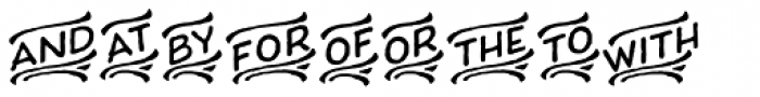 Charcuterie Catchwords Font OTHER CHARS